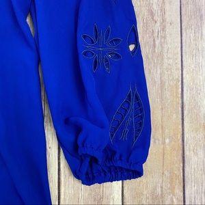 Brixon Ivy Tops - Brixon Ivy Stitch Fix Elmar Embroidered Cutout Top